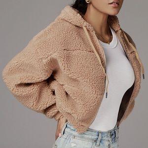 Teddy plush zip up jacket